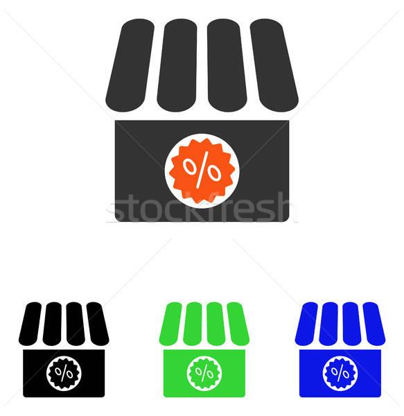 Apteka sprzedaży wektora ikona ilustracja stylu Zdjęcia stock © ahasoft