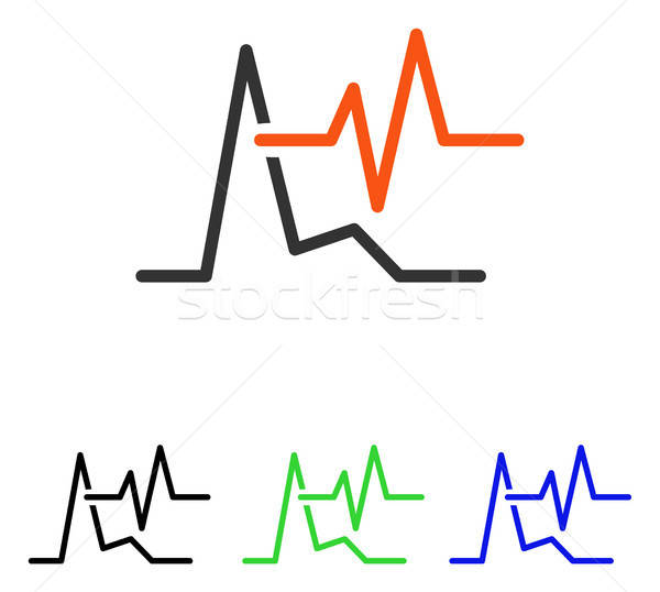 ECG Flat Vector Icon Stock photo © ahasoft