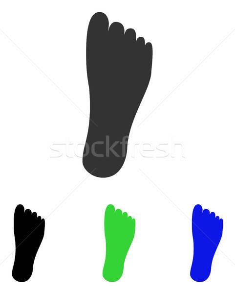 Foot Flat Vector Icon Stock photo © ahasoft