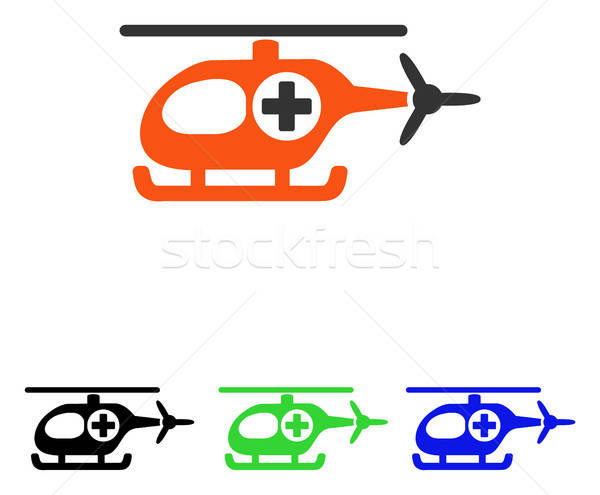 Medische helikopter vector icon pictogram illustratie Stockfoto © ahasoft