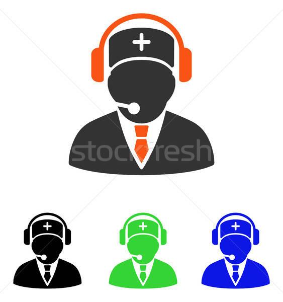 Awaryjne operatora wektora ikona piktogram ilustracja Zdjęcia stock © ahasoft