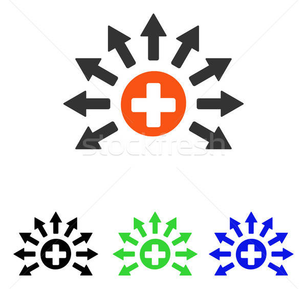 Medical Distribution Flat Vector Icon Stock photo © ahasoft