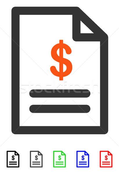 Invoice Flat Icon Stock photo © ahasoft