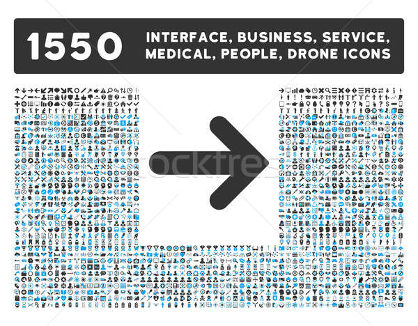 Stock photo: Arrow Right Icon and More Interface, Business, Tools, People, Medical, Awards Flat Vector Icons