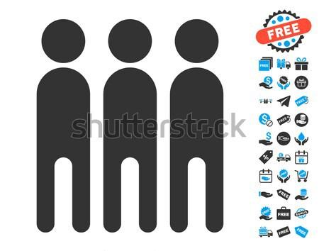Személyek ikon stílus grafikus szürke szimbólum Stock fotó © ahasoft