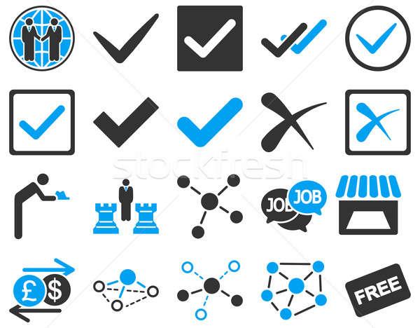 Acuerdo comercio enlaces símbolos moderna Foto stock © ahasoft