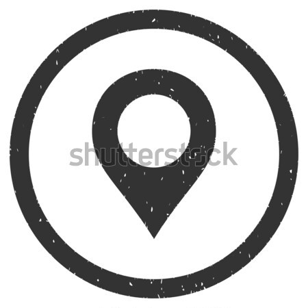 Map Marker flat black color rounded vector icon Stock photo © ahasoft