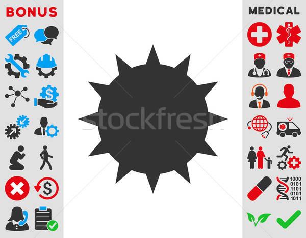 Stock photo: Bacterium Icon