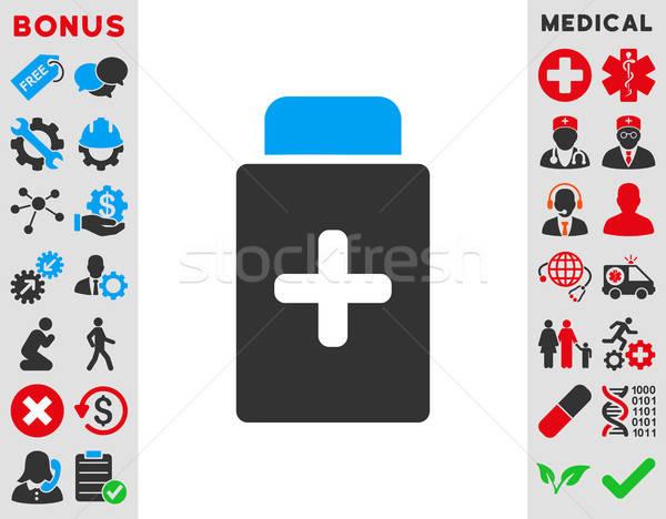 Gyógyszer üveg ikon vektor ikon stílus szimbólum Stock fotó © ahasoft