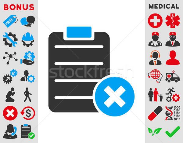 Vorm icon vector stijl symbool Blauw Stockfoto © ahasoft