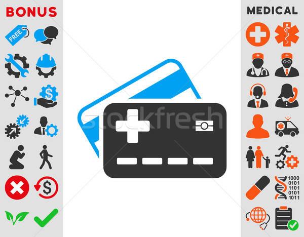 Medical Insurance Cards Icon Stock photo © ahasoft