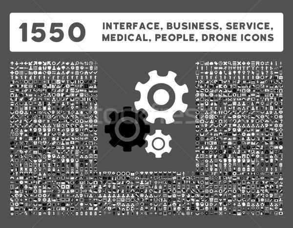 Interfejs działalności narzędzia ludzi medycznych Zdjęcia stock © ahasoft