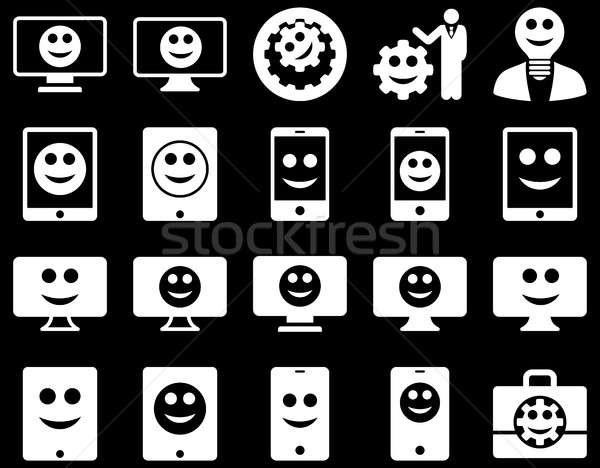 инструменты опции улыбается иконки набор Сток-фото © ahasoft