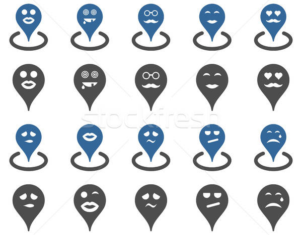 Smiled map marker icons Stock photo © ahasoft