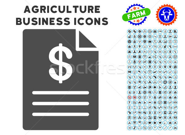 Price List Icon with Agriculture Set Stock photo © ahasoft