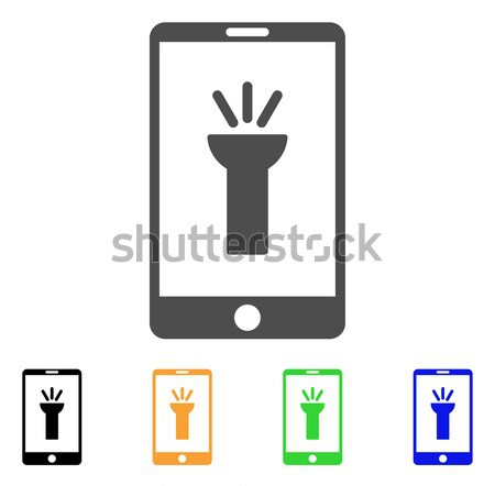 Mobile Torch App Flat Raster Icon Stock photo © ahasoft