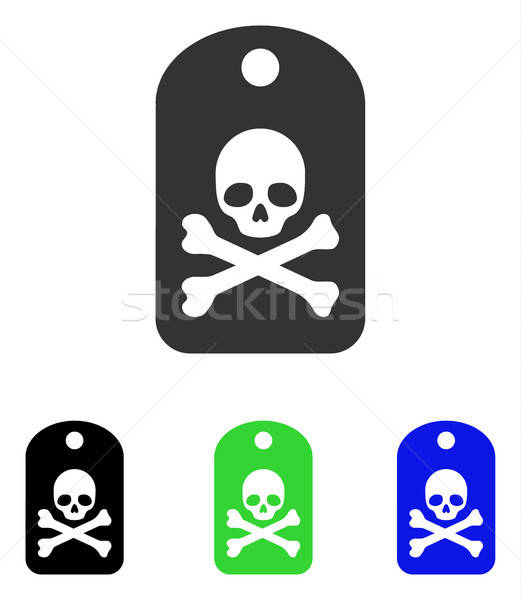 Dood sticker vector icon illustratie stijl Stockfoto © ahasoft