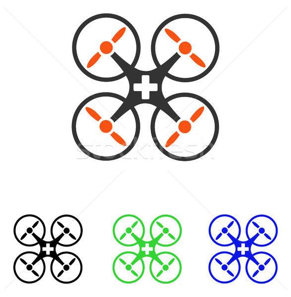 Medical Drone Flat Vector Icon Stock photo © ahasoft