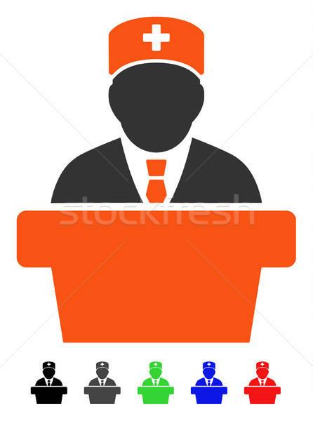 Gezondheidszorg officieel icon vector gekleurd kleur Stockfoto © ahasoft