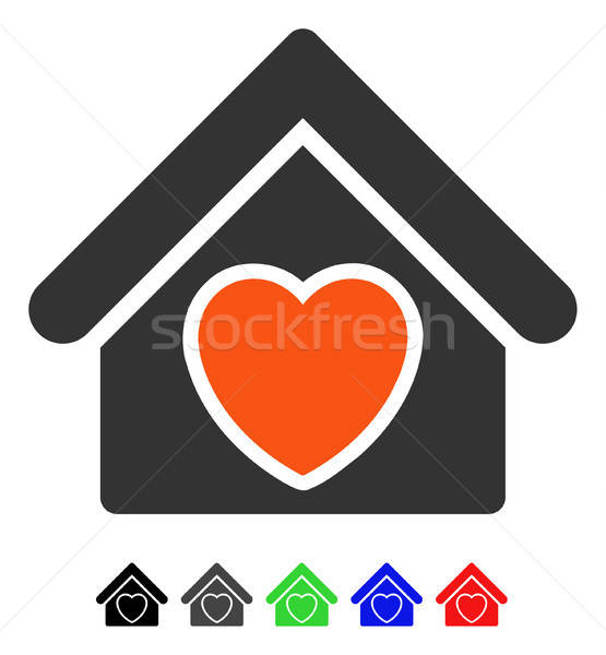Elfekvő ikon vektor színes szín fekete Stock fotó © ahasoft