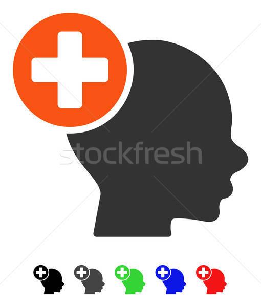 Hoofd behandeling icon vector gekleurd kleur Stockfoto © ahasoft