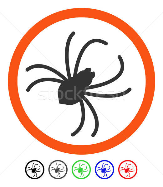 Spider Flat Icon Stock photo © ahasoft