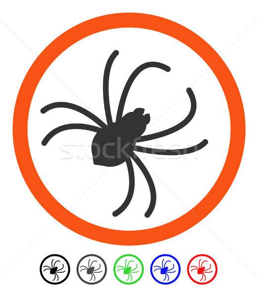 örümcek ikon vektör resim yazı renkli renk Stok fotoğraf © ahasoft
