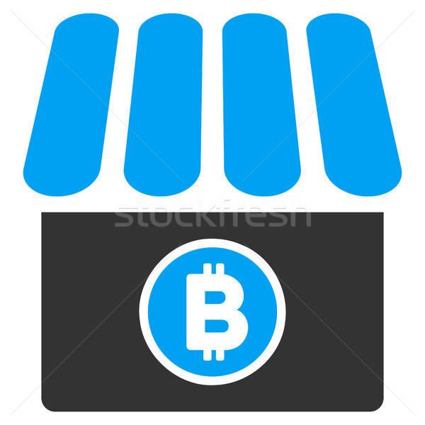 Bitcoin tienda icono aplicación diseno web casa Foto stock © ahasoft