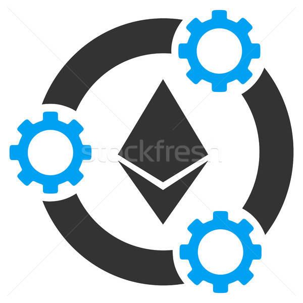 Ethereum Pool Collaboration Flat Icon Stock photo © ahasoft