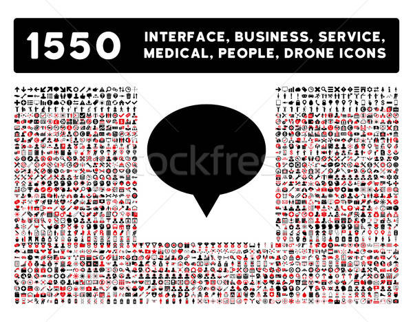 Banner Icon and More Interface, Business, Tools, People, Medical, Awards Flat Vector Icons Stock photo © ahasoft