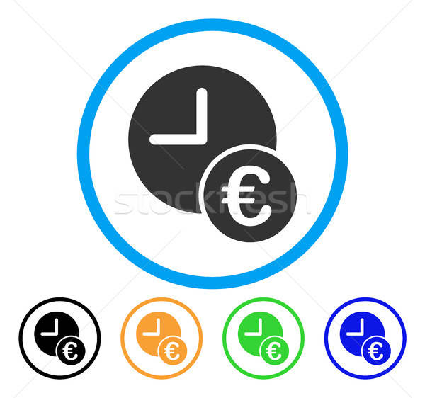 Euro Recurring Payments Rounded Icon Stock photo © ahasoft