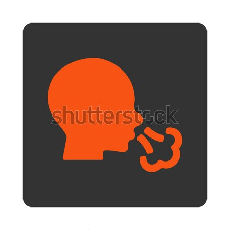 Smoking Detective Flat Icon Stock photo © ahasoft
