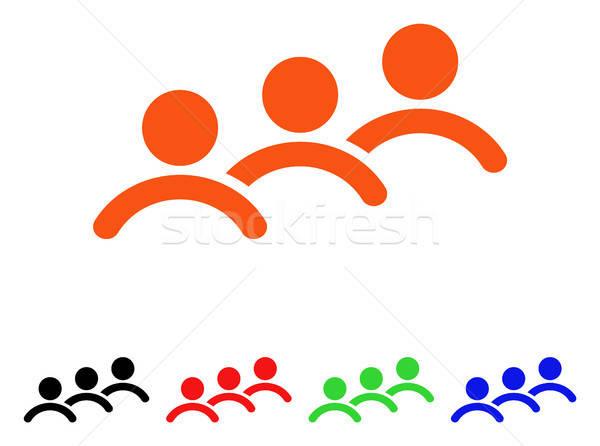 Homem fila vetor ícone estilo icônico Foto stock © ahasoft