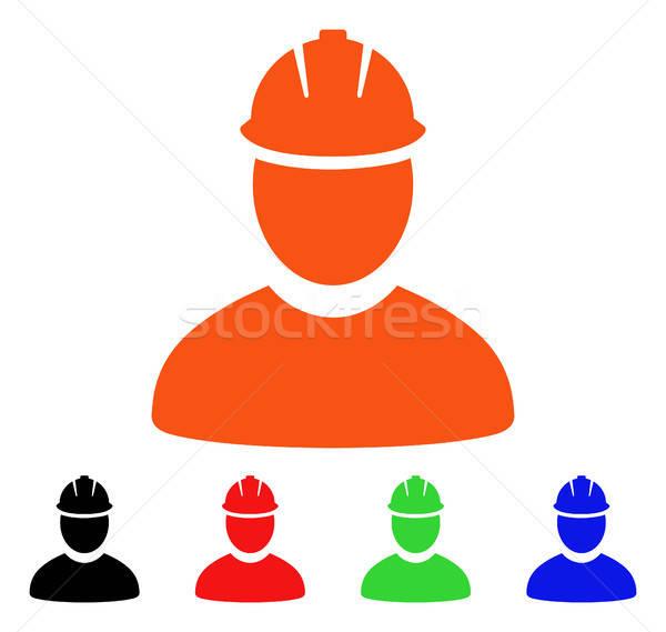 Trabajador vector icono estilo icónico símbolo Foto stock © ahasoft