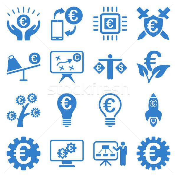ユーロ 銀行 ビジネス サービス ツール アイコン ストックフォト © ahasoft