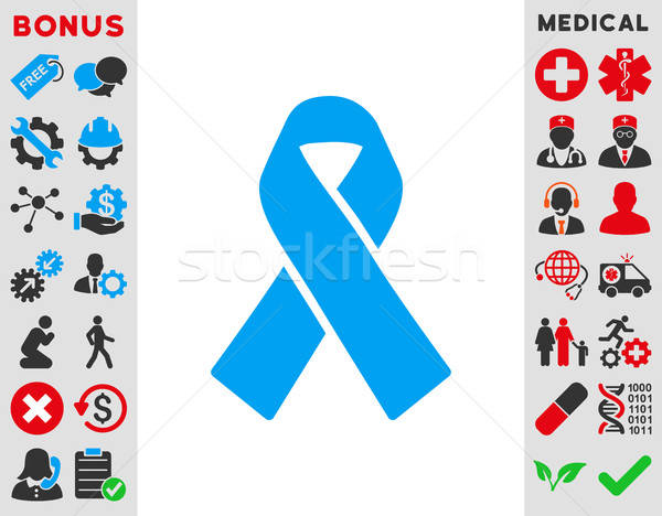 Solidaridad cinta icono vector estilo símbolo Foto stock © ahasoft