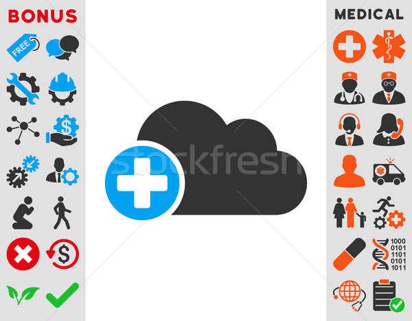 Create Cloud Icon Stock photo © ahasoft