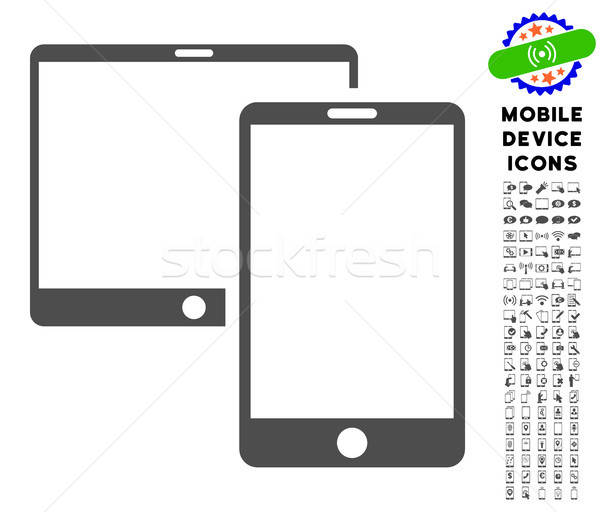 Mobile Devices Icon with Set Stock photo © ahasoft