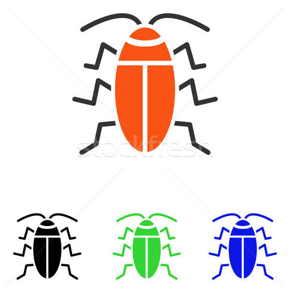 Cockroach Flat Vector Icon Stock photo © ahasoft