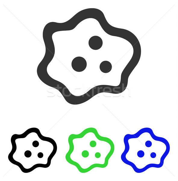 Amoeba Flat Vector Icon Stock photo © ahasoft