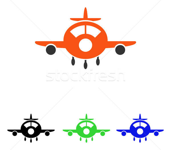 Aircraft Flat Vector Icon Stock photo © ahasoft