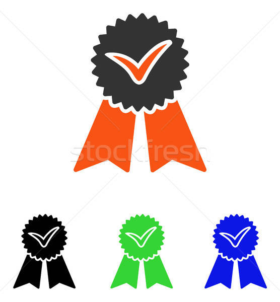 Approvement Flat Vector Icon Stock photo © ahasoft