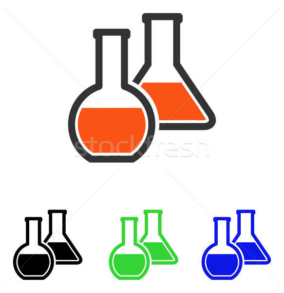 Glass Flasks Flat Vector Icon Stock photo © ahasoft