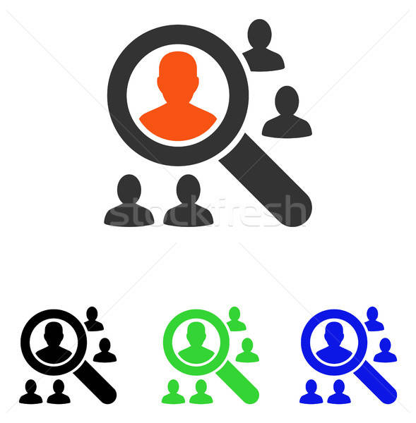 Explore Patients Flat Vector Icon Stock photo © ahasoft
