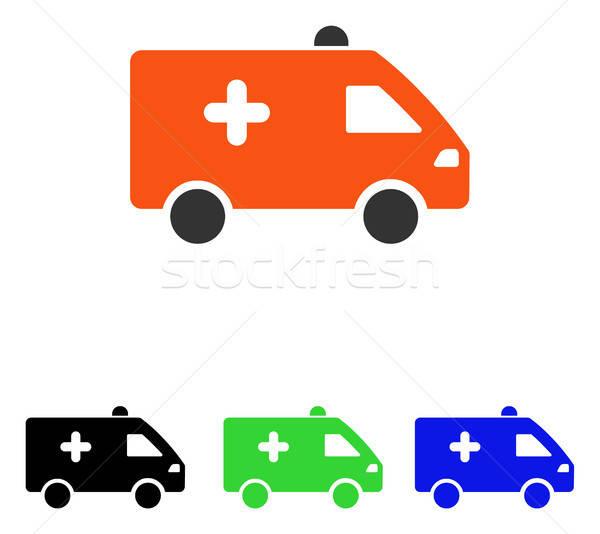 Hospital Car Flat Vector Icon Stock photo © ahasoft