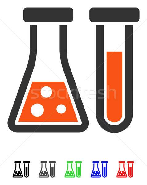 Chemistry Flat Icon Stock photo © ahasoft