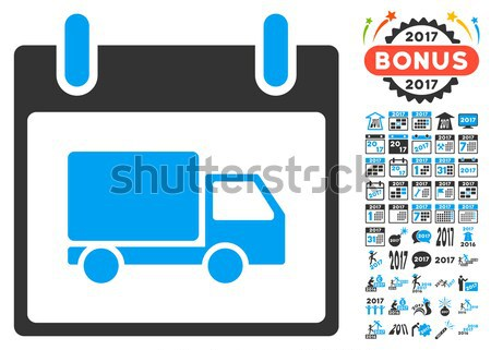 Fast Bitcoin Delivery Car Flat Icon with Set Stock photo © ahasoft