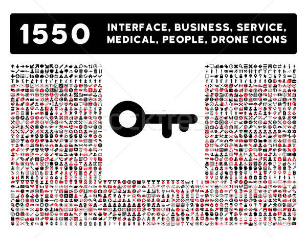 Key Icon and More Interface, Business, Tools, People, Medical, Awards Flat Vector Icons Stock photo © ahasoft