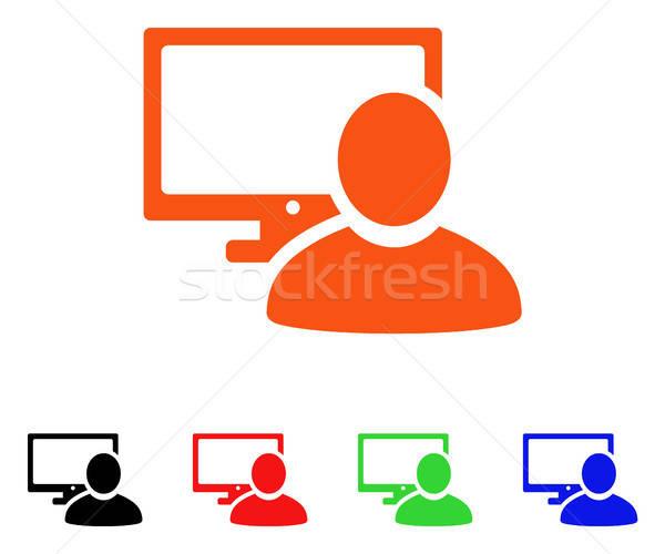 Computador usuário vetor ícone estilo icônico Foto stock © ahasoft