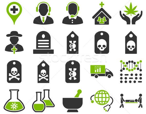 Medische iconen stijl eco Stockfoto © ahasoft